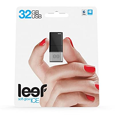 Leef Ice USB 2.0 16GB High-speed USB Flash Drive with Soft-glow LED and PrimeGrade Memory (Black)