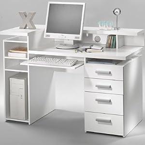 white computer desk modern computer desk