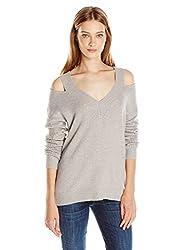 Rebecca Minkoff Women's Draco Sweater, Light Grey, Small