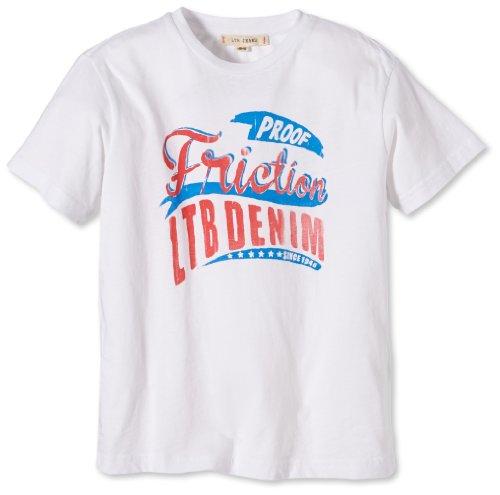 LTB Jeans Jungen T-Shirt Proof T/S, Gr. 176 (Herstellergröße: 15-16), Weiß