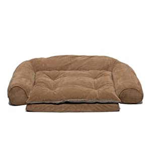 Orthopedic Sleeper Couch Dog Bed Small Chocolate