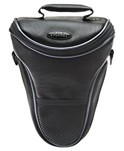 Rokinon Leather-Style Holster SLR Carrying Case for Canon EOS 7D, 5D, 60D, 50D, Rebel T3, T3i, T2i, T1i, XS Digital SLR Cameras