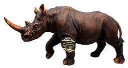 African Safari Grasslands Rhinoceros Beast Decorative Figurine 11\