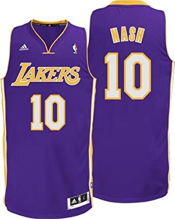 NBA Los Angeles Lakers Mens Steve Nash Swingman Purple Jersey by adidas