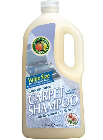 Earth Friendly Products Carpet Shampoo, Concentrated with Bergamot & Sage, 40 Ounces (Pack of 8)