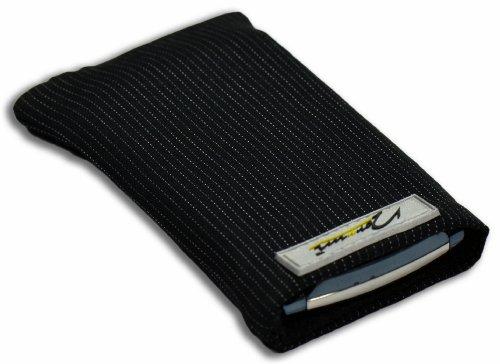 Norrun Handytasche / Handyhülle # Modell Abbo # ersetzt die Handy-Tasche von Hersteller / Modell Anycool T628 Schwarz # maßgeschneidert # mit einseitig eingenähtem Strahlenschutz gegen Elektro-Smog # Mikrofasereinlage # Made in Germany