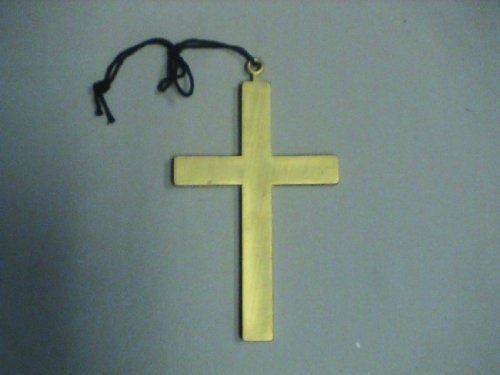 Gold Monk Cross Costume Accessory