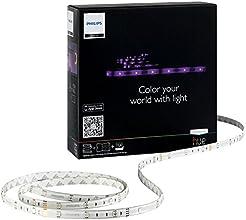 Philips - 915004463001 - Hue - Kit de Démarrage - 2 Lightstrips Connectés Hue + Pont de Connexion - Pilotable Via Smartphone