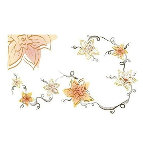 Great Value Kitchen Tools & Gadgets Flowers Pattern Graffiti Oil Proof Wallpaper