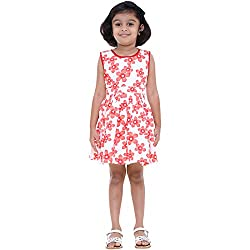 Indiwagon White Color Girls Dress