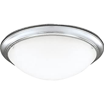 Progress Lighting P7326-13EBWB 4-Light Eclipse Close-To-Ceiling Fixture, Brushed Steel