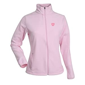 Oakland Raiders NFL Sleet Ladies Long Sleeve Jacket (Mid Pink) by Antigua