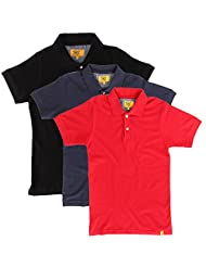 Campus Sutra Men Combo Polo Neck Tshirt Pack Of 3 - B00QSD9F4K