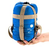 【全5カラー】 軽量 封筒型 シュラフ 寝袋 キャンプ アウトドア 並行輸入品 (サックス)