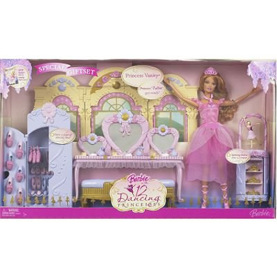 Barbie and the 12 Dancing Princesses Vanity Playset + BONUS DOLL - Buy Barbie and the 12 Dancing Princesses Vanity Playset + BONUS DOLL - Purchase Barbie and the 12 Dancing Princesses Vanity Playset + BONUS DOLL (Mattel, Toys & Games,Categories,Dolls,Playsets,Fashion Doll Playsets)