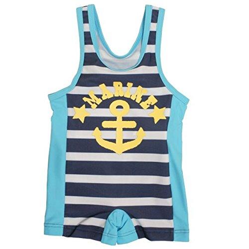 水着 ベビー スイミング 男の子 マリン柄 ストレッチ スイムグレコ 海水パンツ ベビー水着 ネイビー 80cm