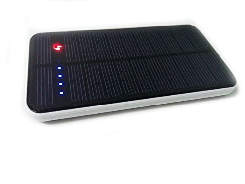 Lufei 12000mAh Solar Panel Portable Charger Power Bank with Dual USB Port and Built-in LED Flash Light