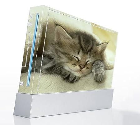 Nintendo Wii Console Decal Skin - Animal Sleeping Kitty
