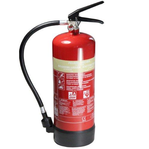 mumbi Schaum Feuerlöscher 6L Brandklasse A (feste Stoffe) und B (flüssige Stoffe) - konform nach DIN EN 3