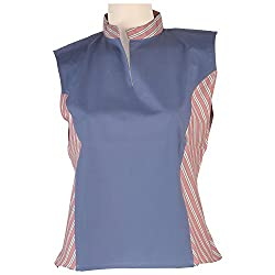 Colhers - Collared Blouse With Striped Side Panels - S