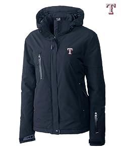 Texas Rangers Ladies WeatherTec Sanders Jacket Navy Blue by Cutter & Buck