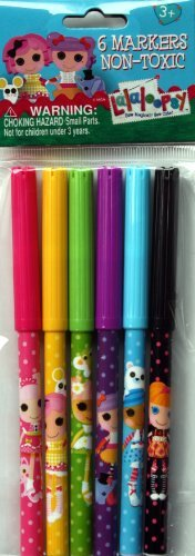 Lalaloopsy Markers, Pack of 6