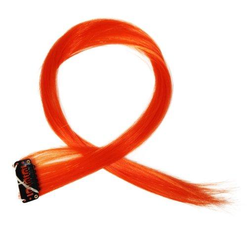"""Bunte Strähnchen 1 x Clip In Extensions 50cm (20"""") Haarverlängerung glatt langhaarHaarteil (14)"""