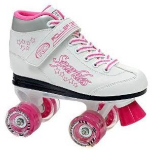 Roller Derby Sparkle Girl's Lighted Wheel Roller Skate (02)