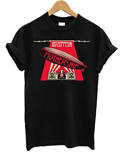 T-shirt Uomo Led Zeppelin - Mothership Maglietta 100% cotone LaMAGLIERIA, S, Nero