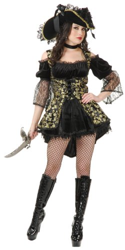 Charades Women's Pearl Pirate Queen Costume