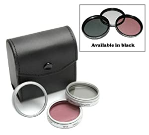Zeikos Filter set Panasonic Lumix DMC-FZ18 - 46mm High Resolution 3-piece Filter Set (UV, Fluorescent, Polarizer) - Silver