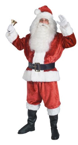 NEW Standard One Size Fits All Santa Claus Suit Dress Up Suit Halloween Costume