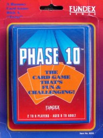 Fundex Games 1992 Version Phase 10 Card Game
