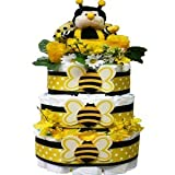 Bee My Baby Diaper Cake Gift Tower, Neutral for Boys or Girls