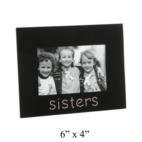 Sisters Glass Photo Frame In Black With The Word