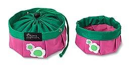 Doggles Dog Travel Bowl, Large, Pink