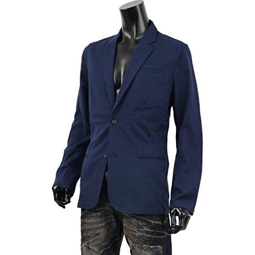 麻 ジャケット テーラード メンズ 麻ジャケット サマージャケット リネン アウター S260313-02 ネイビー L