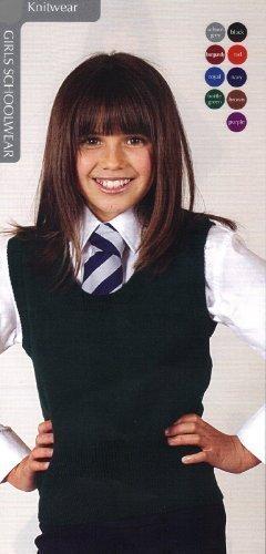 Schoolwear Mädchen U-Ausschnitt Pullunder Wollmischung ärmellos - 11-12 Jahre, Rot