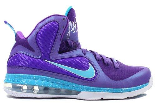 Nike Lebron 9 Hornets (Pure Purple/Turquoise Blue-Wht) Size 12