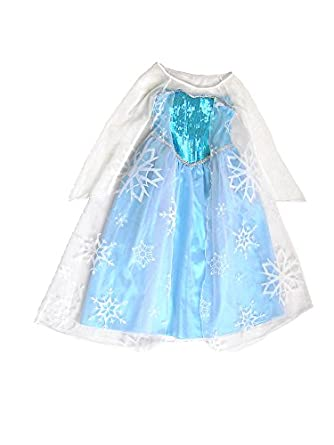 Frozen Elsa Gown Costume New in Package Sz 3/4, 5/6 & 7/8, Fast Shipping (5-6)
