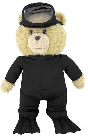 """Commonwealth Ted 2 Ted in Scuba Outfit R-Rated Talking Teddy Bear Plush, 24"""""""