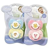Disney Baby Winnie The Pooh Baby Pacifier 2 Pack - Blue & Yellow