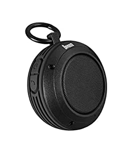 Divoom Voombox Travel Outdoor Water Resistant Bluetooth Portable Speaker with Microphone for Android Devices - Retail Packaging - Black