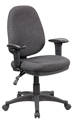Anji Modern Furniture Work Smart Multi Function Ergonomic Chair with Ratchet Back and Adjustable Soft Padded (Vintage Chair For Desk compare prices)