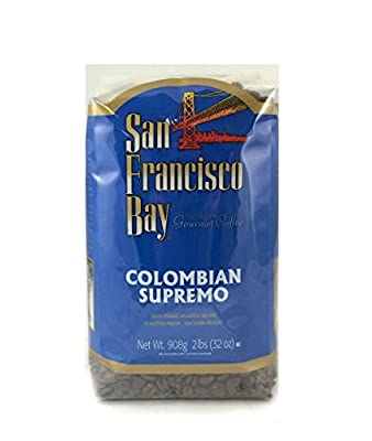 San Francisco Bay Coffee, Colombian Supremo Whole Bean Coffee, 32 Ounce Bag