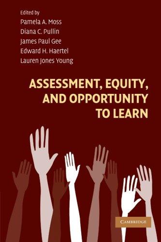 Evaluación, equidad y oportunidad de aprender (aprender a hacer: perspectivas sociales, cognitivas y computacionales)