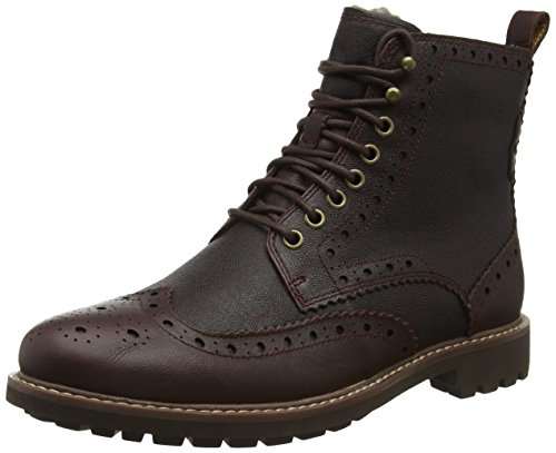 Clarks Montacute Lord, Stivaletti Uomo, Marrone (Chestnut Warm Lined Leather), 41.5 EU