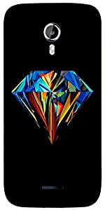 Snoogg Diamond colourful Designer Protective Back Case Cover For Micromax A117