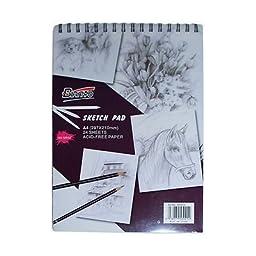 Sketch Book 160gsm 24 Sheets A4 160GSM Acid Free