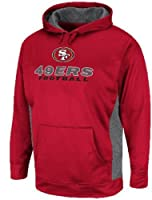 San Francisco 49ers Cardinal Synthetic Gridirion 5 NFL Hooded Sweatshirt by VF by VF